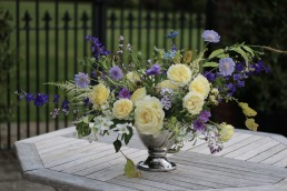 Garden gathered summer table centrepiece from Tangle & Thyme