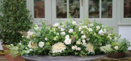 natural funeral flowers - coffin spray